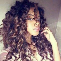 Wild curly hair