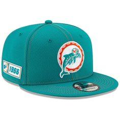 New Era NFL 19 Sideline 39Thirty Miami Dolphins Hat L//XL Adult Aqua