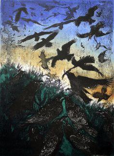 Superb printmaking Tactile, textural & dynamic Julia Manning | Somerset Artist & Printmaker|