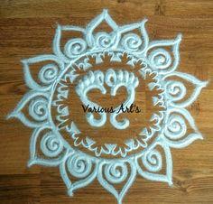 Ganesh Rangoli, Indian Rangoli, Kolam Rangoli, Simple Rangoli, Rangoli Patterns, Rangoli Ideas, Rangoli Designs Diwali, Diwali Decorations At Home, Diwali Diy