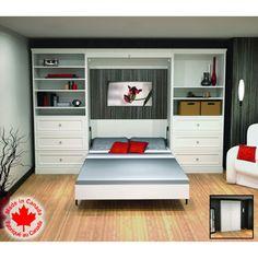 Costco Bestar 3 Pc White Wall Bed Set
