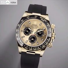 """REPOST!!! Created by Rolex in 1963, the Cosmograph Daytona is a watch born to race. It has established an extraordinary track record in the world of motor sport thanks to its reliability and performance. Known simply as the """"Daytona"""", it has risen to the rank of an icon as one of the best known chronographs in the world. #Rolex #CosmographDaytona #baselworld2017 Photo Credit: Instagram ID @mr.bandera"""