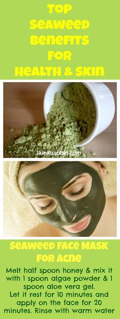 Seaweed benefits for health and skin