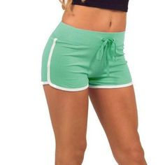 Esportes Fast Drying Drawstring Women Shorts Casual Anti Emptied Cotton Contrast Elastic Waist Correndo Short Pants 2018 Newest Mini Shorts, Hot Shorts, Casual Shorts, Summer Shorts, Hot Pants, Skinny Shorts, Harem Pants, Running Shorts, Workout Shorts