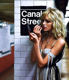 Anja Rubik Model Vogue Paris NYC Subway