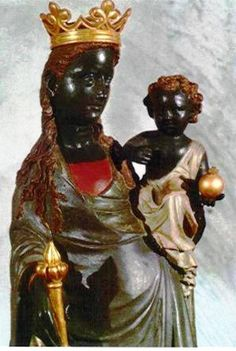 THE BLACK MADONNA AT ST. JOHN'S CHURCH IN LUXEMBOURG CITY, LUXEMBOURG. IT IS…