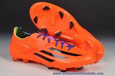 Nouveau 2014 World Cup adidas f50 adizero Metallic TRX FG Orange Noir FT7763