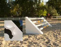 "Easy Glide Jump - The Easy Glide is great for using as a Jump or for Cavaletti work. It can be rotated on the ground, giving many different height options including 8"", 15"", 19"", 22"" and 30""."