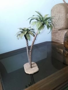 palmeras Scale Models, Cultures Du Monde, Doll Display, Wire Trees, Polymer Clay Flowers, Christmas Nativity, Barbie House, Palm Trees, Waterfall