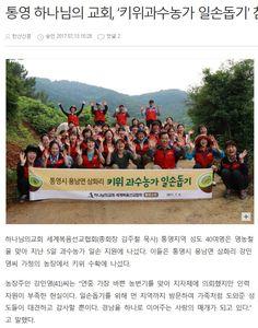 하나님의교회(안상홍증인회) 통영지역'키위 과수농가 일손돕기'참여