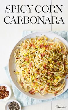 Spicy Corn Carbonara #purewow #food #recipe #pasta #summer #easy #dinner