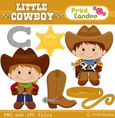 Little Cowboy  Digital Clip Art  Personal and por printcandee