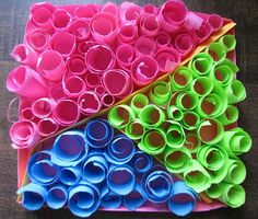art with paper -fun rolled up paper idea for kids