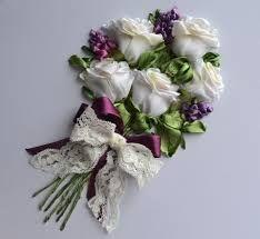 вышивка розы лентами мастер класс ile ilgili görsel sonucu