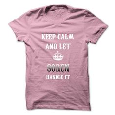 Keep Calm And Let SOREN Handle It.Hot Tshirt! - #gifts for boyfriend #cute gift. OBTAIN => https://www.sunfrog.com/No-Category/Keep-Calm-And-Let-SOREN-Handle-ItHot-Tshirt.html?68278