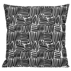 One Nordic Scribble cushion cover, Siksak black
