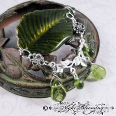 Leaves of Lavaralda Draped Barrette by NightBlooming on Etsy, $36.50               thinking in all silver ?