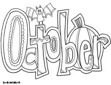 October Coloring Page Free Coloring Pages Pinterest Adult