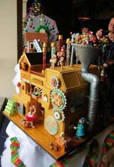 Omni Grove Park Inn Contest: Every year, the Omni Grove Park Inn in Asheville, North Carolina, holds a contest to put creative chefs to the test. Here's one from last year, with a fun twist on the classic gingerbread house.