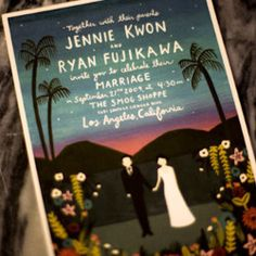 Love this incredible invitation by Anna Bond for Jenny and Ryan's Old Hollywood glamour wedding.