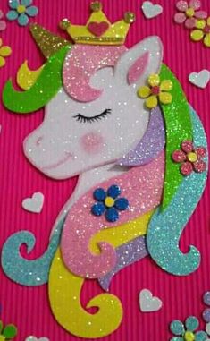Unicorn Arts and crafts For Kids - - - Kids Crafts, Arts And Crafts For Teens, Foam Crafts, Paper Crafts, Unicorn Pictures, Unicorn Baby Shower, Unicorn Crafts, Decorate Notebook, Party Favor Bags