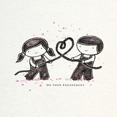Bungle and Sprout - a new engagement card - www.lovefromlemonade.co.uk