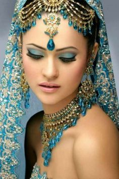 Gorgeous blue Indian girl