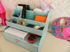 #MarhtaStewartHomeOffice Stack and Fit as an accessories organizer via Is This Real Life?