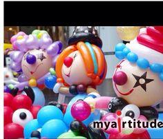 Carnival balloon decor #carnival #balloon #decor #sculpture #art #twist #clown #balloon