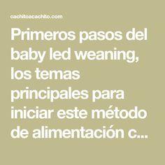 Primeros pasos del baby led weaning, los temas principales para iniciar este método de alimentación complementaria. La información concentrada de lo principal sobre el BLW, desde cero.