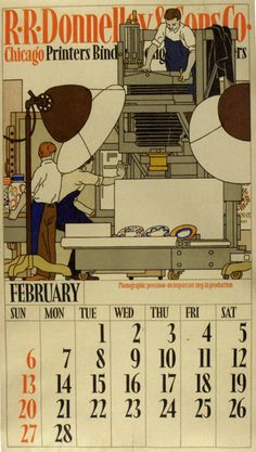 R.R. Donnelley & Sons calendar by Vojtech Preissig