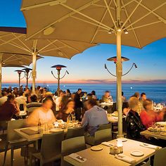 Definitely dine at George's at the Cove in La Jolla. If at lunch, choose the Ocean Terrace pictured here. Ask any La Jollan, and they'll probably say this is a go-to restaurant when recommending a restaurant to tourists and friends.