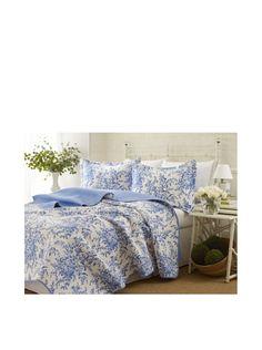 Laura Ashley Bedford Cotton Reversible Quilt Set, Full/Queen Laura Ashley http://www.amazon.com/dp/B00A8RMZJY/ref=cm_sw_r_pi_dp_UCEmub1SFSGGW