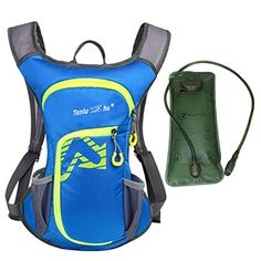 12L Hydration Pack with 2L Hydration Bladder - Hiking Travel Water Bag Rucksack - Waterproof Bladder Backpack for Camping Running Cycling Biking Backpacking Climbing Reservoir System Backpacks Blue Find out more about the great product at the image link.