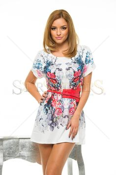 Rochie Flowered Day White