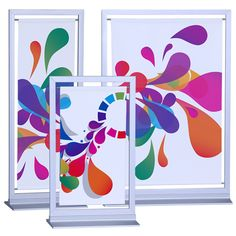 Available in three sizes! With its sturdy, elegant frame and base, this tabletop display is one of a kind!