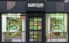 Le Sub®store : la boutique éphémère par Heineken - David Barthe Window Signage, Shop Facade, Exterior Signage, Store Fronts, Pop Up Stores, Afin, Occasion, Pos, Architecture