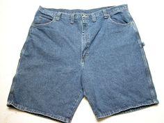 Mens Wrangler  Carpenter Shorts Blue Denim sz 46 100% Cotton ( Measure 46X10 ) #Wrangler #CarpenterUtility