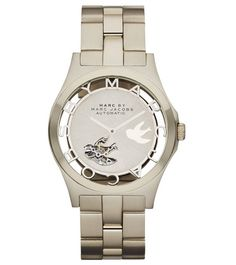Marc by Marc Jacobs Henry Icon Automatic 40MM watch in Gold with Bird cutout