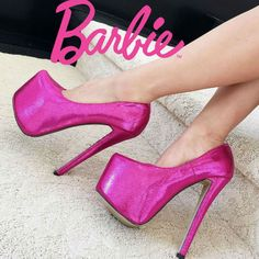 Barbie 6.5 inches High Heel Platform Pumps who could walk in these!?!?