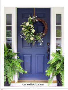 Pretty. #wreath #blue #door