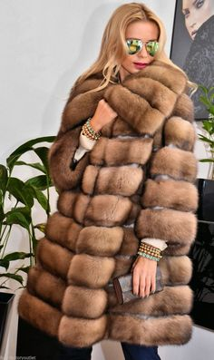 Natural Russian Sable Fur Coat Barguzin Li Jacket Chinchilla Royal Mink Lynx Fox | eBay