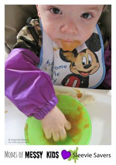 Moms of Messy Kids Love Sleevie Savers - B-Inspired Mama at 5 Minutes for Mom - http://www.sleeviesavers.com