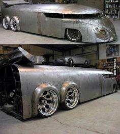 Check out the very best VW Bus Hot Rod. Volkswagen Bus, Vw T1, Vw Camper, Custom Trucks, Custom Cars, Custom Rat Rods, Cool Trucks, Cool Cars, Rat Rod Trucks