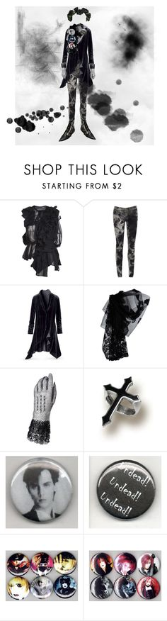 """dogma"" by kurohime ❤ liked on Polyvore featuring Comme des Garçons, AX Paris, Valentino, Worn By and Murphy"