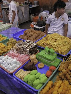 Süßigkeiten - Bidayuh-Markt in Serian - Sarawak, Borneo / Malaysia