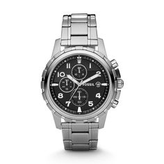 Dean Chronograph Stainless Steel Watch FS4542 | FOSSIL®- For my B <3