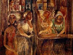 OMAR EL NAGDI,born 1931,Egyptian Painter.