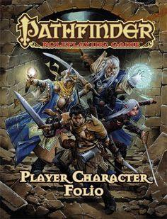 Pathfinder Roleplaying Game: Player Character Folio (OGL) | Book cover and interior art for Pathfinder Roleplaying Game - PFRPG, 3rd Edition, 3E, 3.x, 3.0, 3.5, 3.75, Role Playing Game, RPG, Open Game License, OGL, Paizo Inc. | Create your own roleplaying game books w/ RPG Bard: www.rpgbard.com | Not Trusty Sword art: click artwork for source