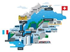 @blindsalida Lausanne, Illustration, Illustrated Maps, Illustrations